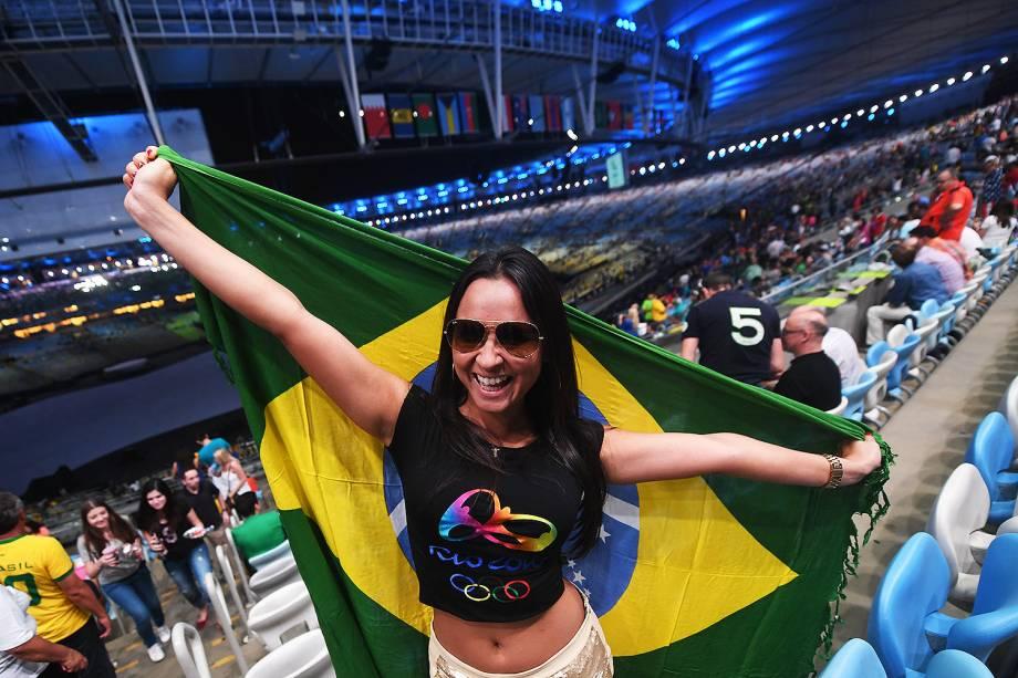 Cerimônia de abertura dos Jogos Olímpicos Rio 2016, no Maracanã