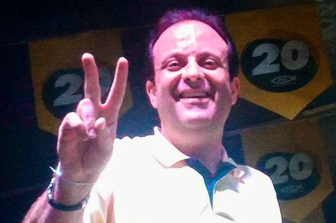 O líder do governo Michel Temer na Câmara dos Deputados, André Moura (PSC-SE), participa da campanha de Lara Moura, no município de Japaratuba, Sergipe