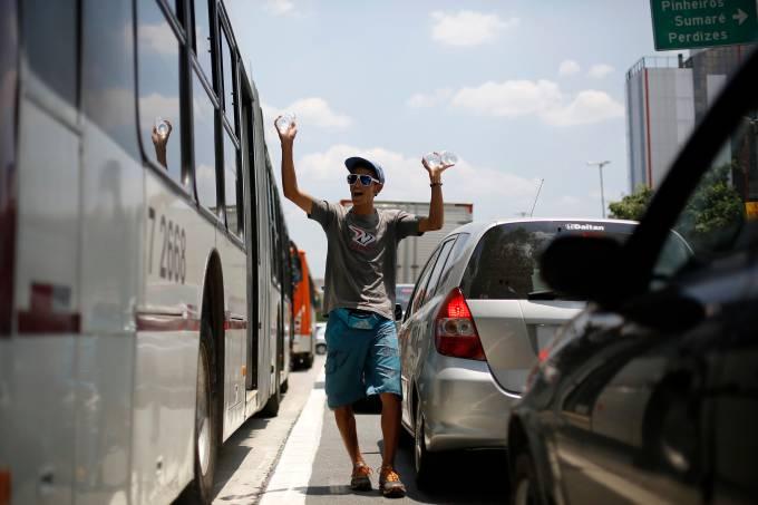 Vendedor ambulante em São Paulo