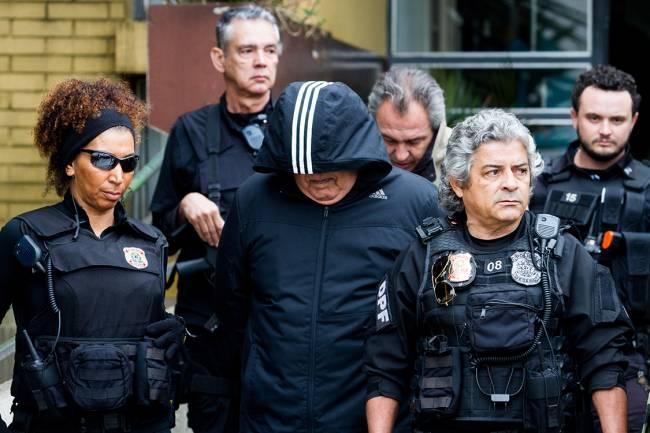 O ex-presidente da Queiroz Galvão, Ildefonso Colares Filho, realiza exame de corpo de delito no IML (Instituto Médico Legal), em Curitiba (PR), durante a 33ª fase da Operação Lava-Jato - 03/08/2016