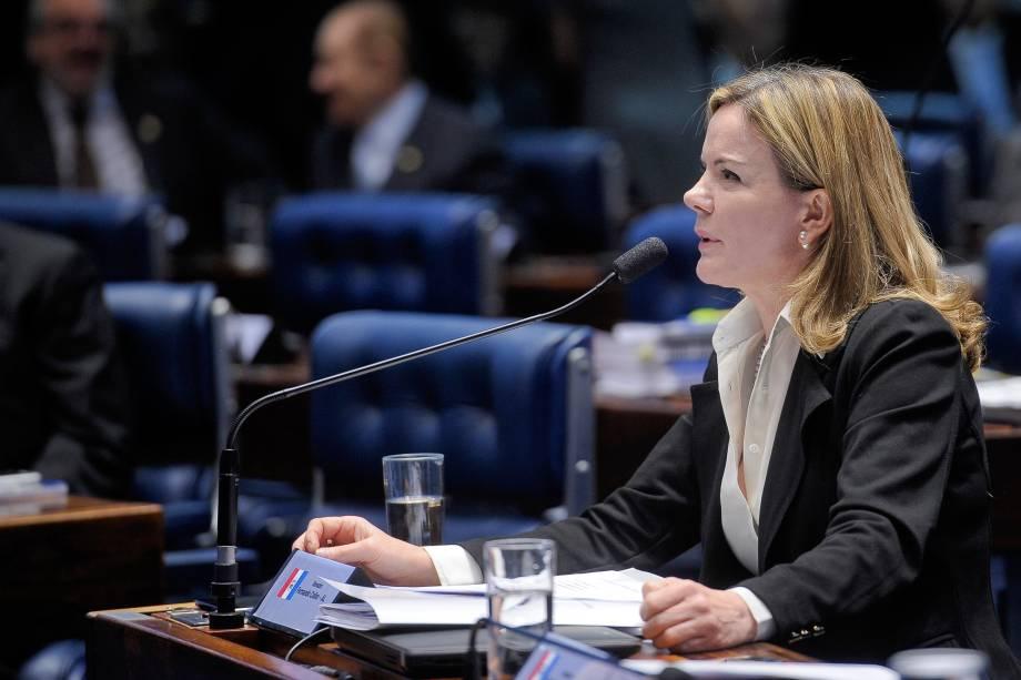 Pronunciamento da senadora Gleisi Hoffmann (PT-PR) durante sessão que trata do julgamento do processo de impeachment da presidente afastada Dilma Roussefff - 25/08/2016