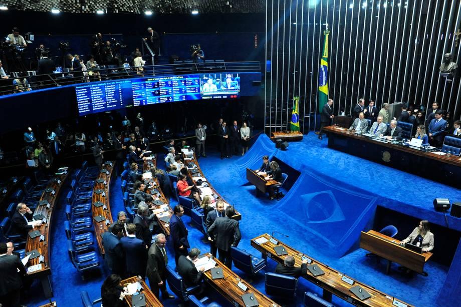 Sessão do julgamento final do impeachment da presidente afastada Dilma Rousseff, no plenário do Senado Federal- 25/08/2016