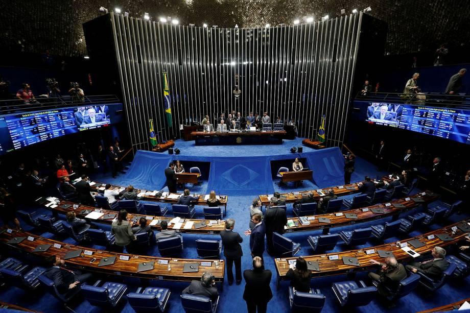 Sessão para votação do julgamento final do processo de impeachment da presidente afastada Dilma Rousseff, no plenário do Senado - 25/08/2016