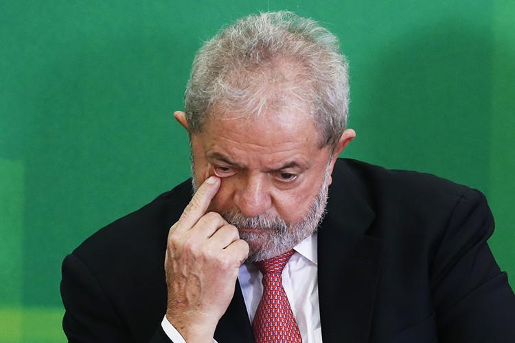 O ex-presidente Lula durante posse como ministro-chefe da Casa Civil - 17/03/2016