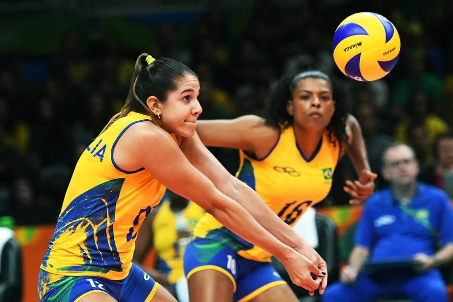 Lance na partida entre Brasil e Japão, nas Olimpíadas Rio 2016