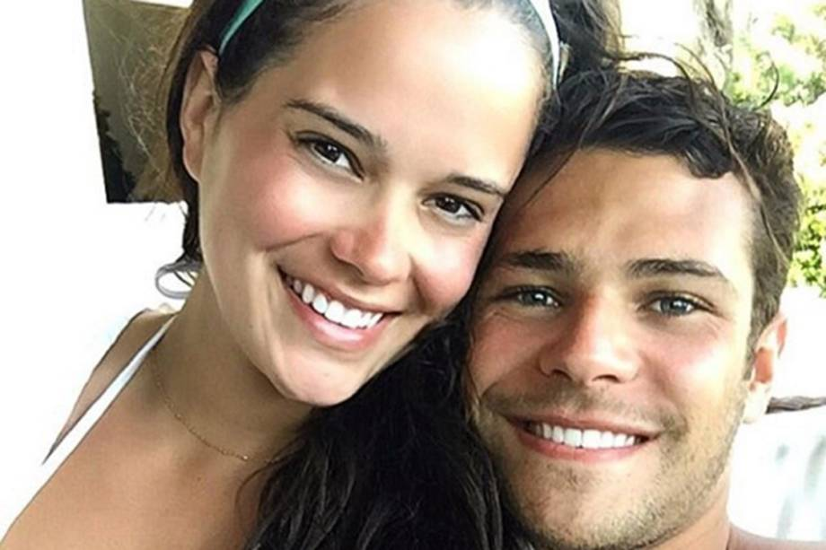 Modelo Liz Willis e o namorado, o nadador Marcelo Chierighini