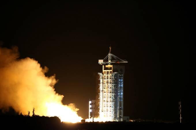 Lançamento do primeiro satélite quântico, na China