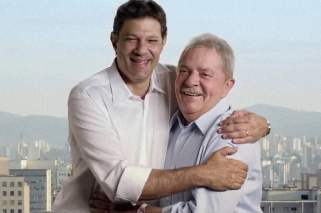 Fernando Haddad e Lula na campanha para Prefeitura de São Paulo em 2012
