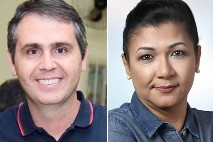 Marcus Alexandre (PT) e Eliane Sinhasique (PMDB)