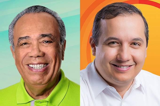 Os candidatos à prefeitura de Aracaju (SE): João Alves Filho (DEM) e Valadares Filho (PSB)