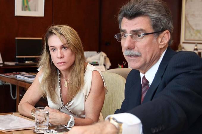 Teresa Surita e Romero Jucá