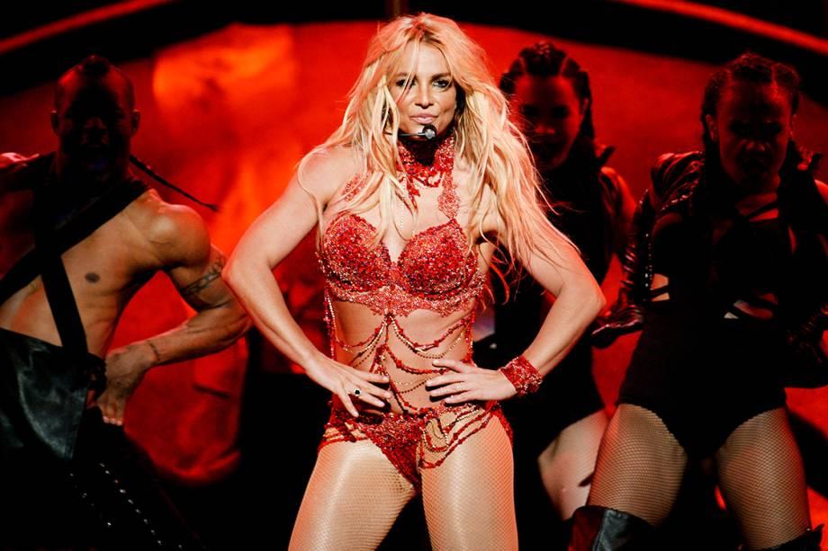 A cantora americana Britney Spears, durante sua apresentação no Billboard Music Awards, realizado em Las Vegas (EUA) - 22/05/2016