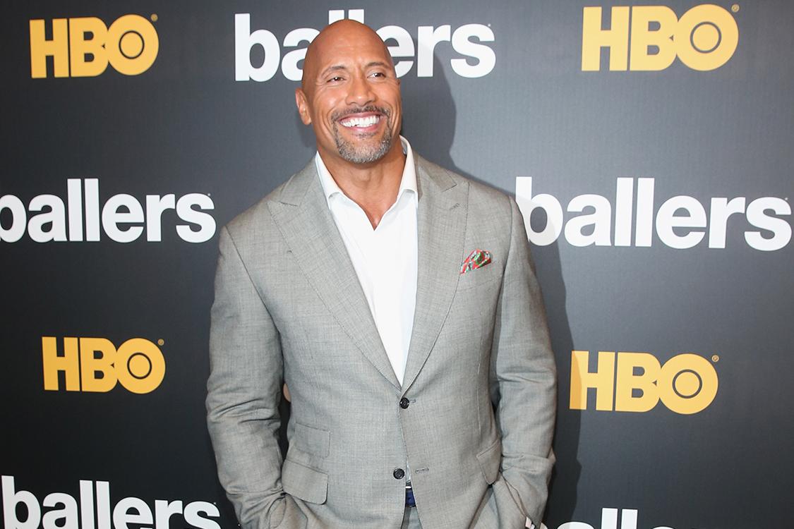 Dwane Johnson comparece à estreia da segunda temporada de Ballers, da HBO