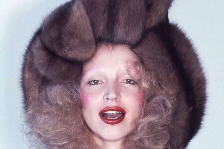 A modelo e atriz Elke Maravilha - 19/02/1973