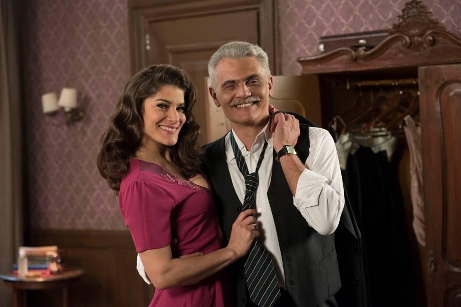 Diana (Priscila Fantin) e Severo (Tarcisio Filho), em cena da novela 'Êta Mundo Bom'