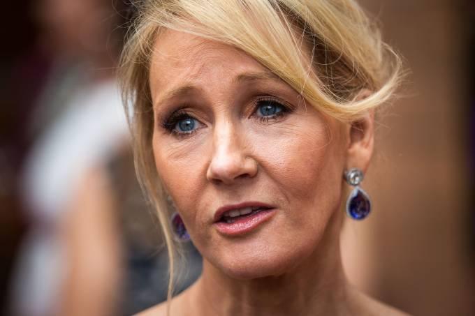 A autora J.K. Rowling