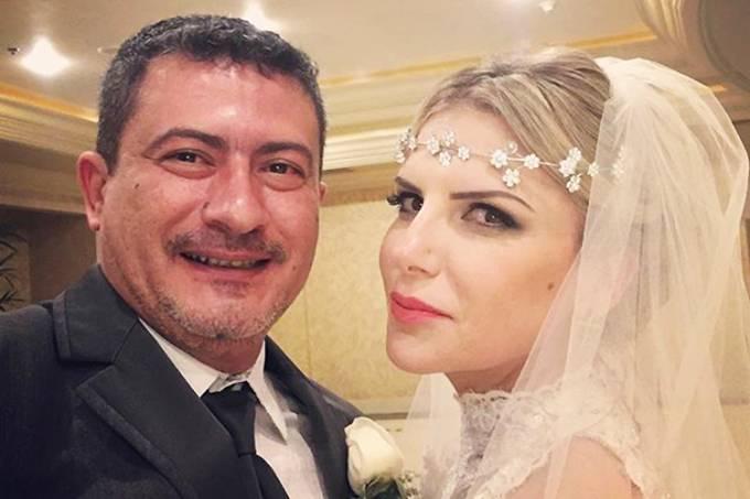 O casal Tom Veiga e Alessandra Veiga