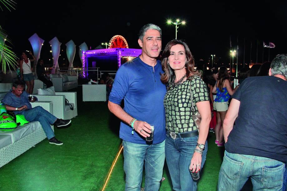 William Bonner e Fátima Bernardes no Rock in Rio 2013
