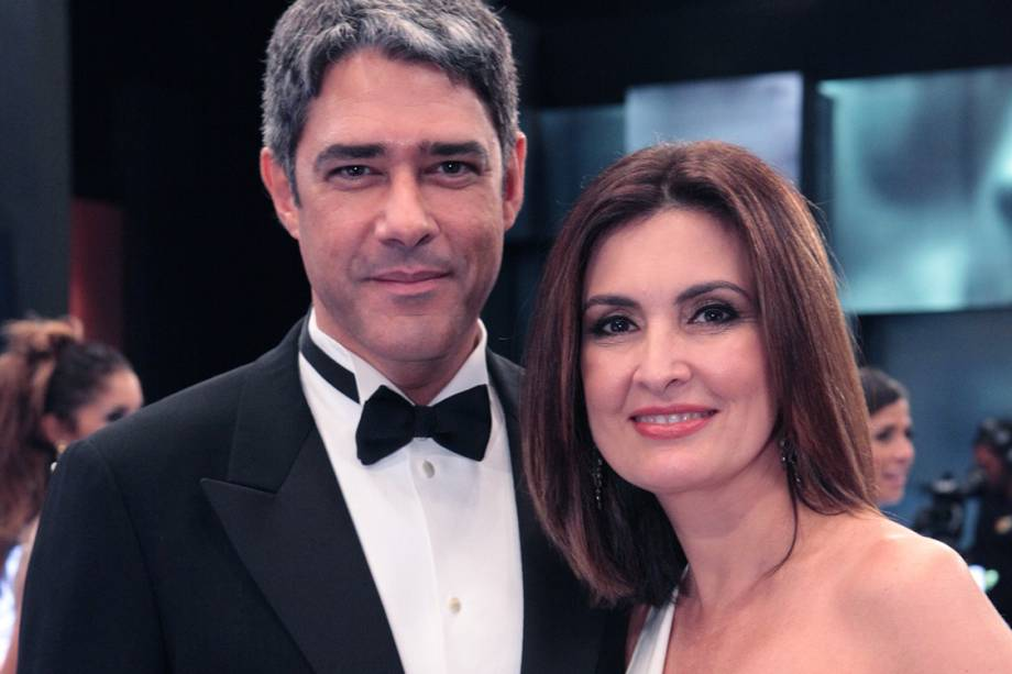 William Bonner e Fátima Bernardes durante o especial Melhores do Ano do Domingão do Faustão, em 2011