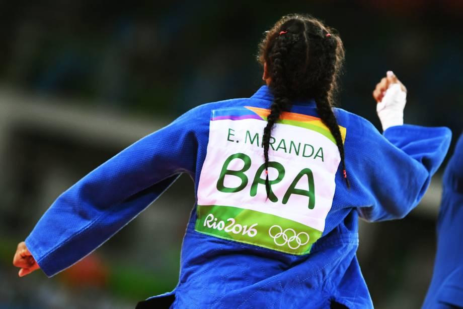 A judoca brasileira Érika Miranda, vence por ippon a romena Andrea Chitu, e entra na disputa pela medalha de bronze - 07/08/2016