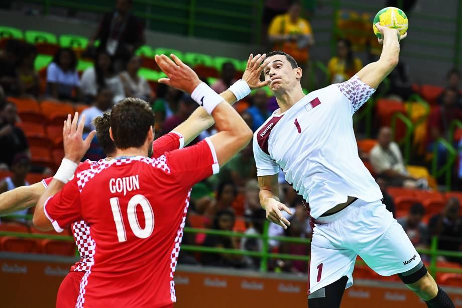Catar vence a Croácia por 30 a 23, em partida válida pelo grupo A do handball masculino, realizada na Arena do Futuro, no Rio de Janeiro (RJ) - 07/08/2016