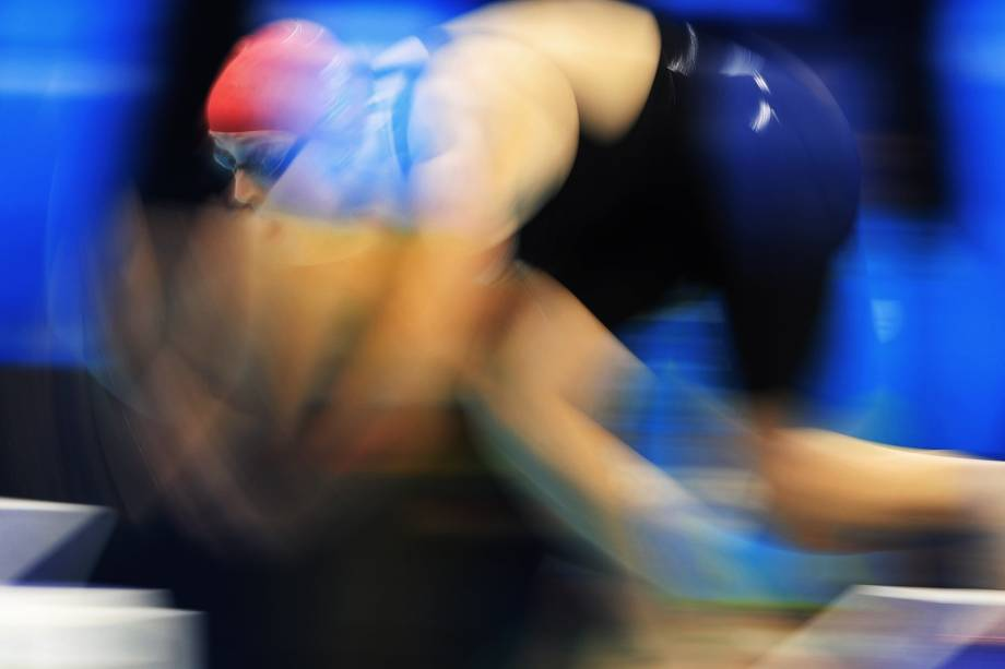 Siobhan-Marie O'Connor, da Grã Bretanha, durante a prova de 200m nado medley, nas Olimpíadas Rio 2016