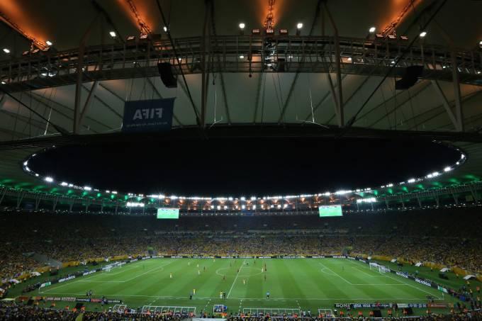 Vista geral do Maracanã na final da Copa das Confederações