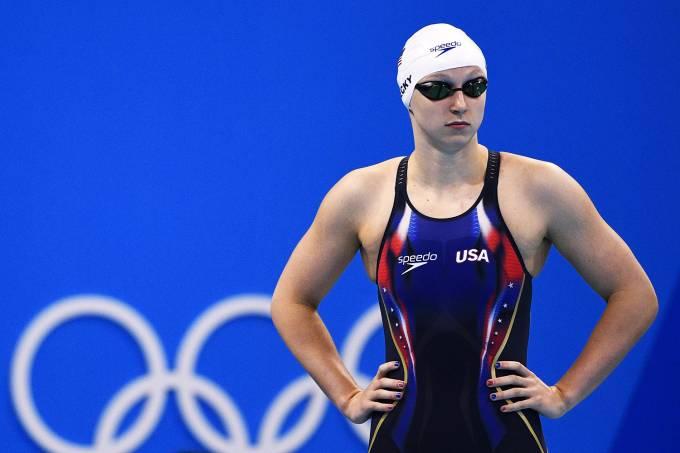 A nadadora americana Katie Ledecky