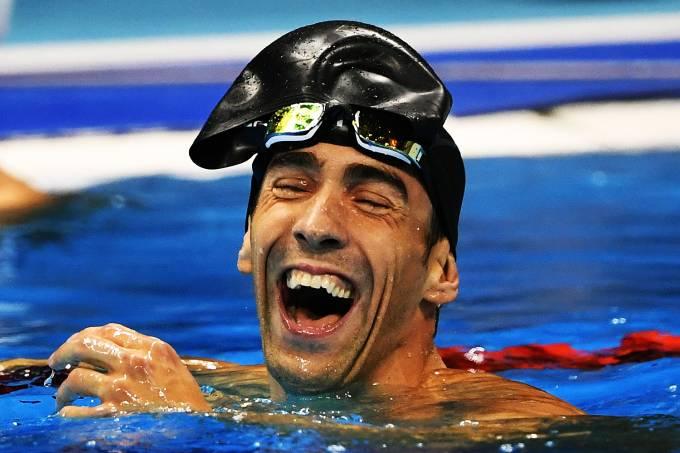 O nadador Michael Phelps conquista a medalha de prata nos 100m nado borboleta, nas Olimpíadas Rio 2016