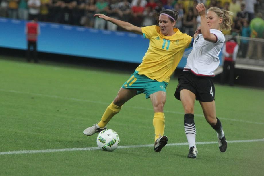 Alemanha e Austrália empatam em partida válida pela segunda rodada do grupo F do futebol feminino no Itaquerão