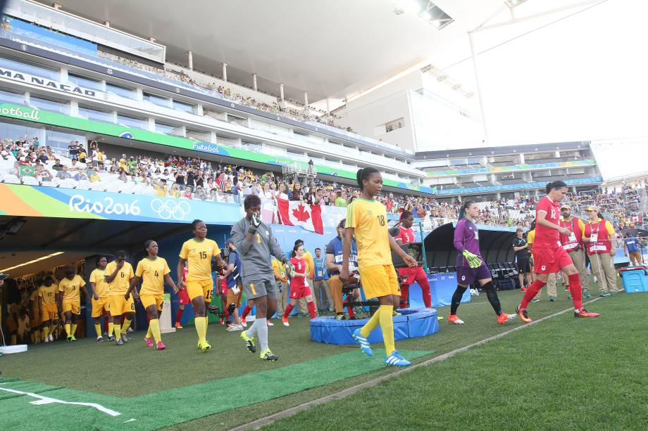 Canadá e Zimbábue abrem a segunda rodada do futebol olímpico feminino no Itaquerão.