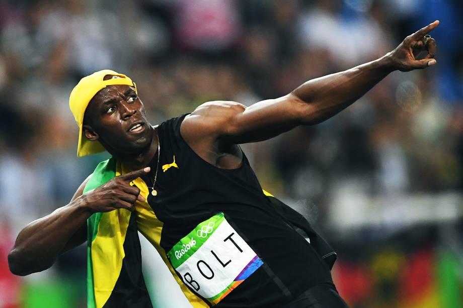 Usain Bolt conquista o tri olímpico nos 100m rasos