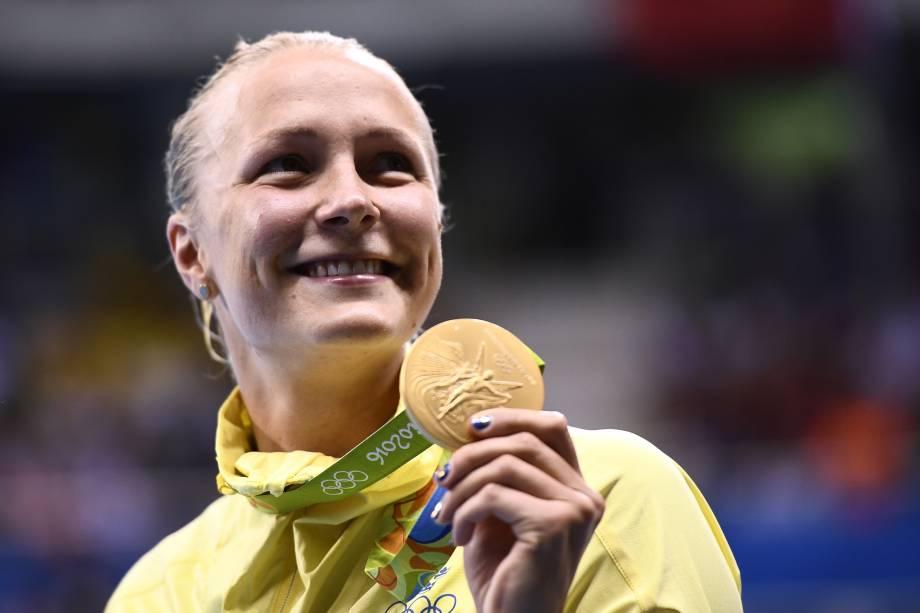 A sueca Sarah Sjöström conquista o ouro e estabelece o novo recorde mundial no final dos 100m borboleta feminino