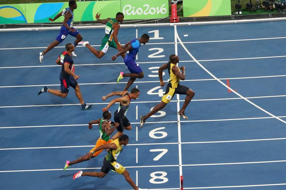 O jamaicano Usain Bolt conquista o tri olímpico na Rio-2016