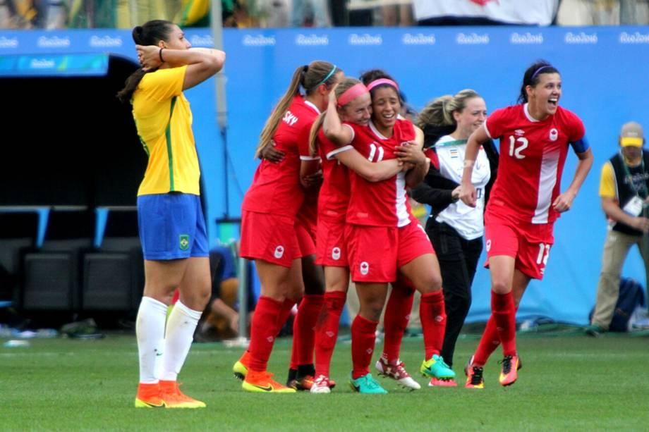 Canadá vence o Brasil por 2 a 1 e conquista a medalha de bronze, em partida realizada na Arena Corinthians, zona leste de São Paulo (SP) - 19/08/2016