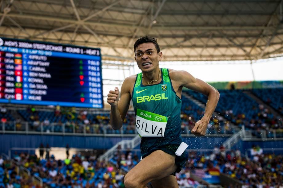 O brasileiro Altobeli da Silva faz a melhor marca pessoal e avança para a final dos 3000m com barreiras, durante o quarto dia de competições de atletismo - 15/08/2016