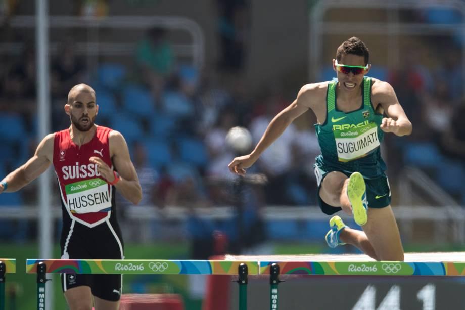O atleta brasileiro Mahau Sugimati se classfica para as semifinais dos 400m com barreiras - 15/08/2016