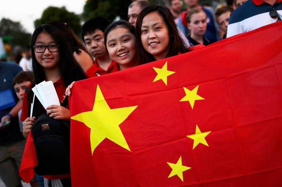 Chineses chegam ao Estádio do Maracanã, para acompanhar a cerimônia de abertura dos Jogos Olímpicos Rio-2016 - 05/08/2016
