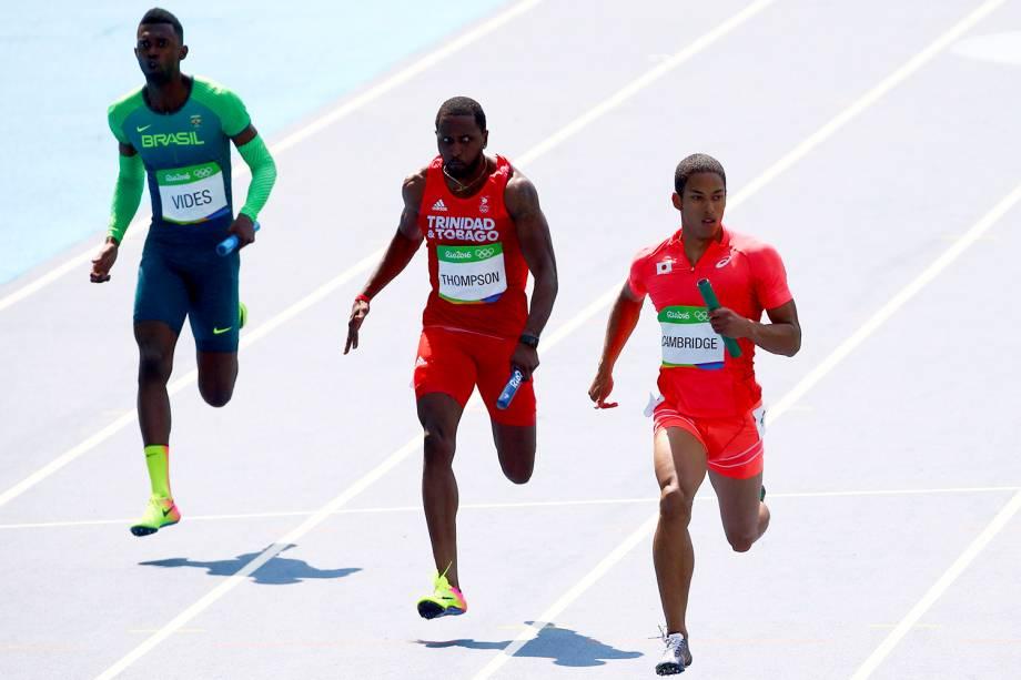 A equipe brasileira masculina do revezamento 4x100m, formada por Jorge Vides (foto), Vitor Hugo dos Santos, Bruno de Barros e Ricardo de Souza, se classifica para à final da prova - 18/08/2016