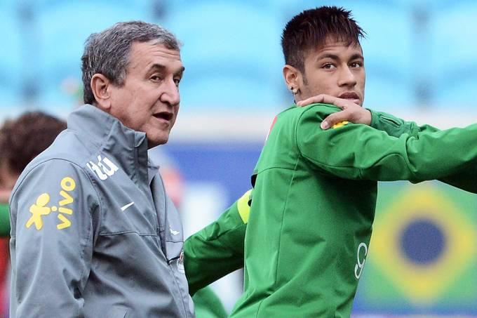Carlos Alberto Parreira e Neymar
