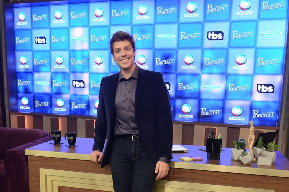 """Fábio Porchat estreará novo programa de TV na Record, """"O Programa de Porchat"""""""