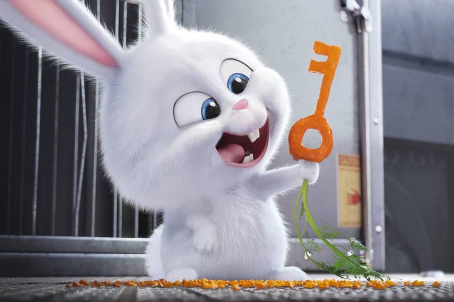 """A coelhinha """"Snowball"""", do filme Pets"""