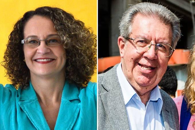 Luciana Genro (PSOL) e Raul Pont (PT)