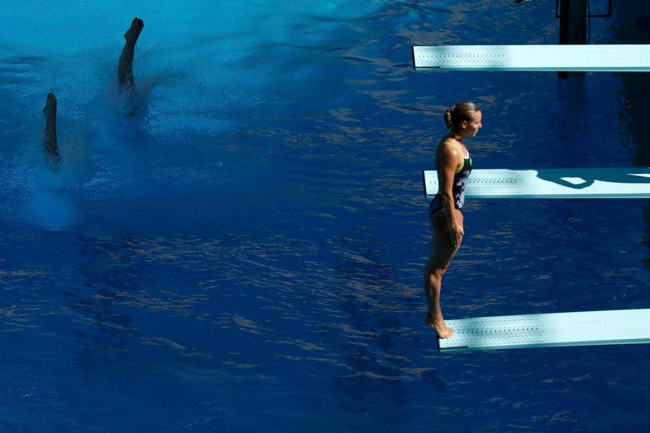 Atletas de saltos sincronizados treinam para a Olimpíada Rio 2016, no Rio de Janeiro - 01/08/2016