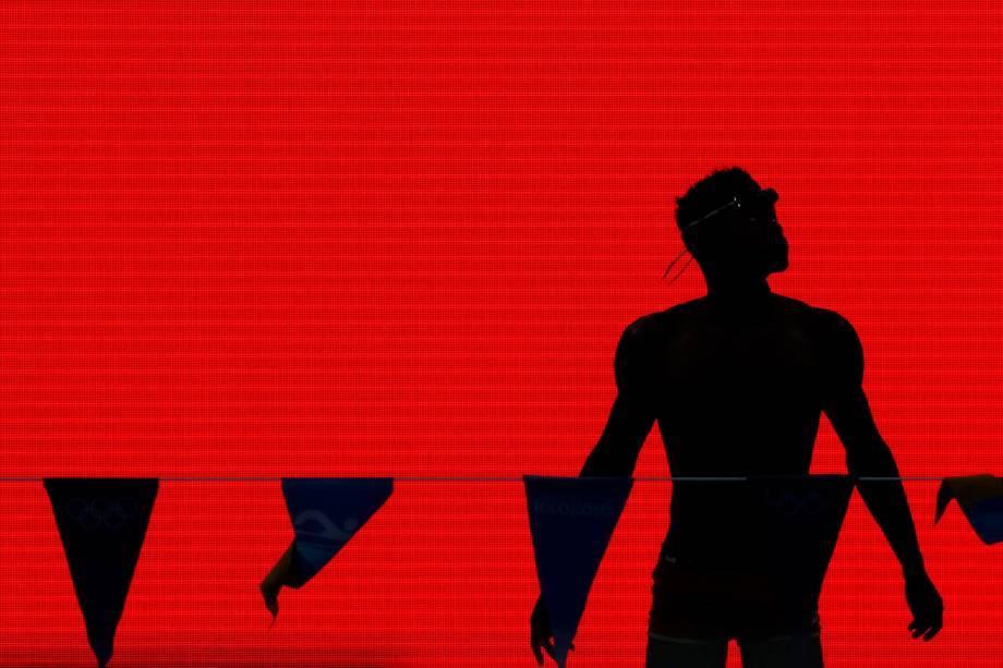 Nadador se prepara para uma sessão de treinamento para a Olimpíada Rio 2016, no Parque Olímpico, Rio de Janeiro - 01/08/2016