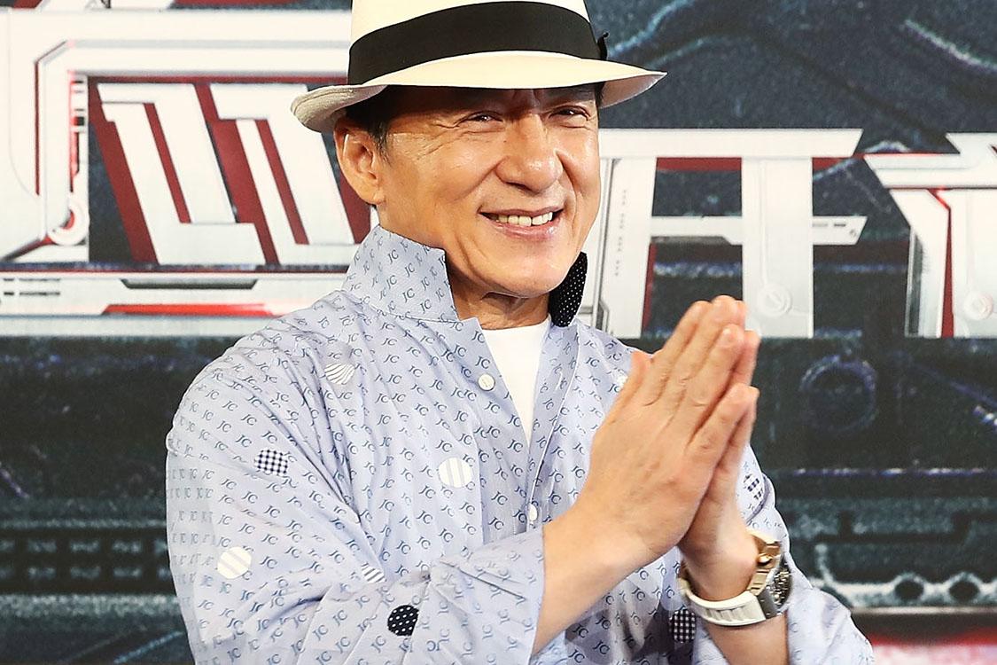 O ator Jackie Chan durante evento em Sidnei, Austrália