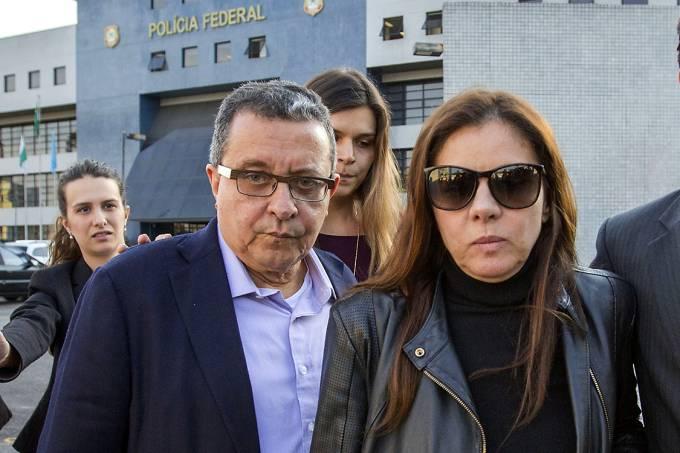 João Santana e a mulher dele, Mônica Moura