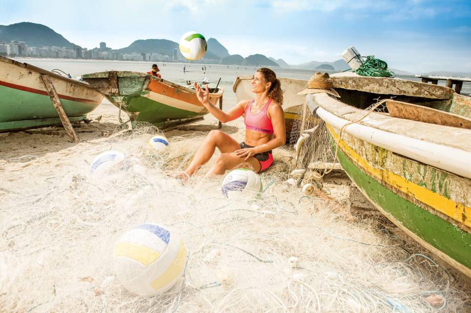 Larissa, jogadora de vôlei de praia