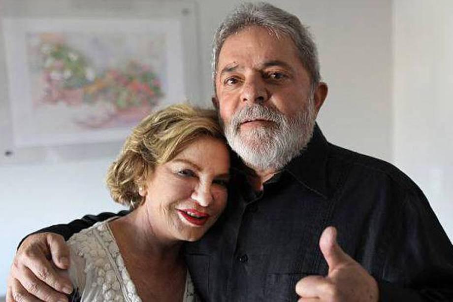 A ex-primeira dama Marisa Letícia e o ex-presidente da República Luiz Inácio Lula da Silva
