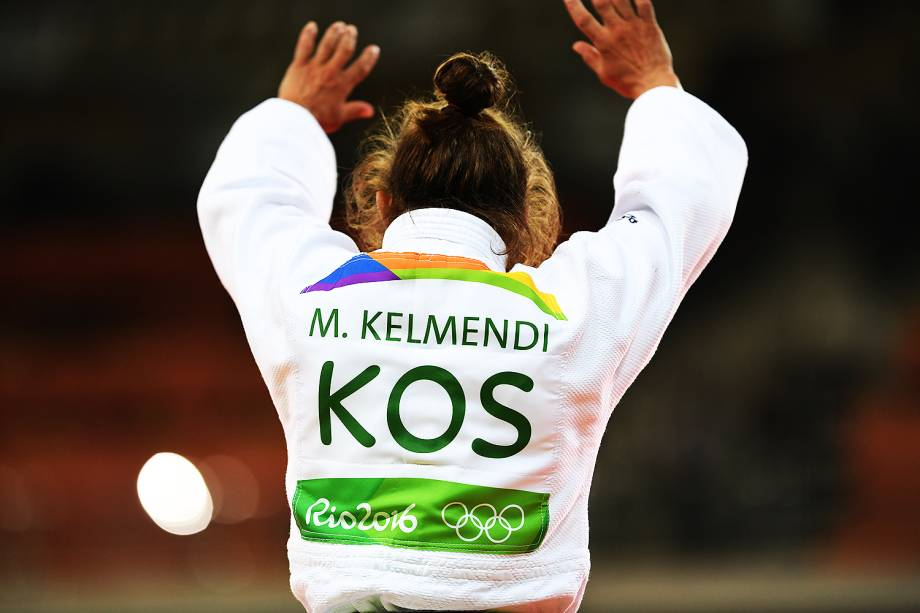 A judoca Majlinda Kelmendi, do Kosovo